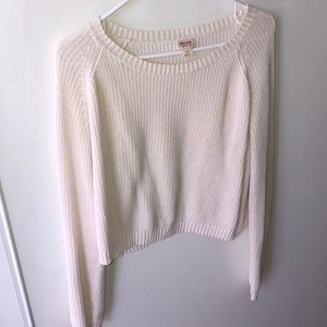 Cream, long sleeve sweater